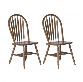 Liberty Furniture Industries, Inc. Carolina Crossing Windsor Side Chair - Set of 2 - Multi Pair Front View