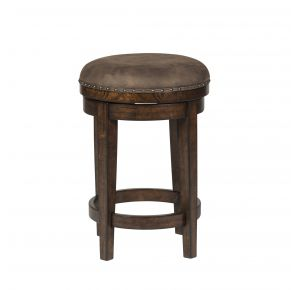 Liberty Furniture Industries, Inc. Aspen Skies Console Swivel Stool - Medium Brown Front View