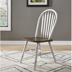 Liberty Furniture Industries, Inc. Carolina Crossing Windsor Side Chair - Set of 2 - White Front View