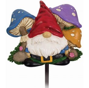 Spoontiques Gnome Garden Stake Front View