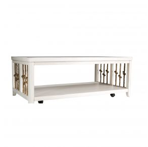Liberty Furniture Industries, Inc. Dockside II Cocktail Table - White Front View