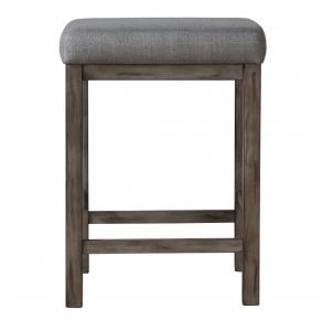 Liberty Furniture Industries, Inc. Hayden Way Upholstered Console Stool - Medium Gray Front View
