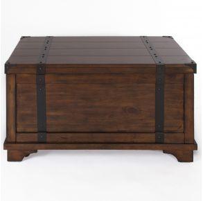 Liberty Furniture Industries, Inc. Aspen Skies Storage Trunk - Medium Brown Front View
