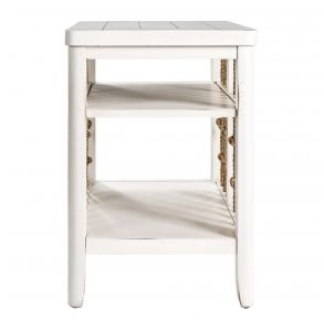 Liberty Furniture Industries, Inc. Dockside II Chair Side Table - White Front View