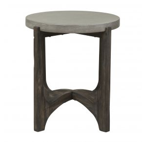 Liberty Furniture Industries, Inc. Cascade End Table - Dark Brown Front View