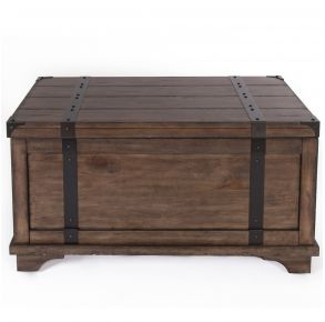 Liberty Furniture Industries, Inc. Aspen Skies Storage Trunk - Light Brown Front View
