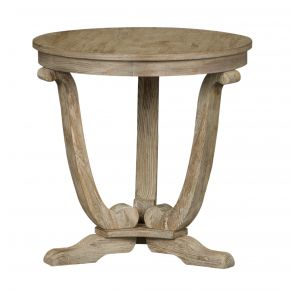 Liberty Furniture Industries, Inc. Greystone Mill End Table - Light Gray Front View