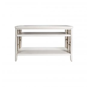 Liberty Furniture Industries, Inc. Dockside II Sofa Table - White Front View