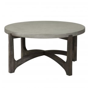 Liberty Furniture Industries, Inc. Cascade Round Cocktail Table - Dark Brown Front View
