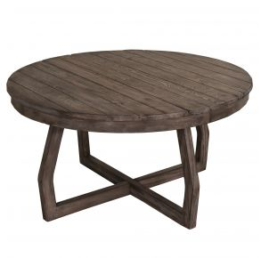 Liberty Furniture Industries, Inc. Hayden Way 3 Piece Set - 1 Cocktail and 2 End Tables - Medium Gray Cocktail Table Front View