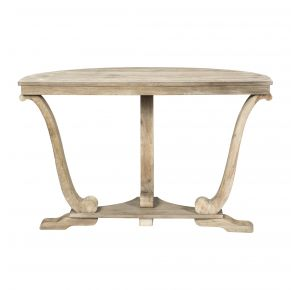 Liberty Furniture Industries, Inc. Greystone Mill Sofa Table - Light Gray Front View