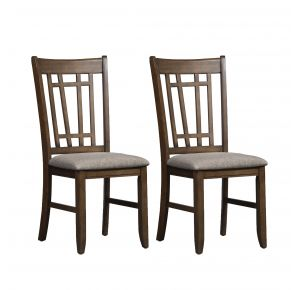 Liberty Furniture Industries, Inc. Santa Rosa II Lattice Back Side Chair - Set of 2 - Medium Brown Pair Front View