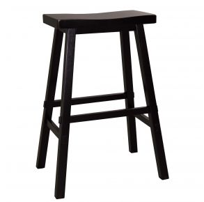 """Liberty Furniture Industries, Inc. Creations II 30"""" Sawhorse Counter Stool - RTA - Black Front View"""