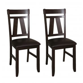 Liberty Furniture Industries, Inc. Lawson Splat Back Side Chair - RTA - Set of 2 - Black Pair Front View