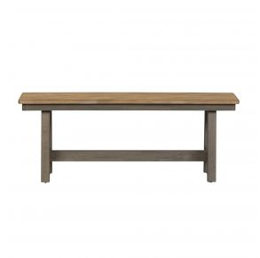 Liberty Furniture Industries, Inc. Lindsey Farm Backless Bench - RTA - Light Gray Front View