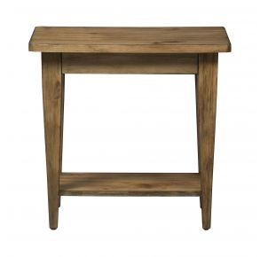 Liberty Furniture Industries, Inc. Verona Valley Chair Side Table - Light Brown Front View