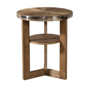 Liberty Furniture Industries, Inc. Omega Round Chair Side Table - Light Brown Front View