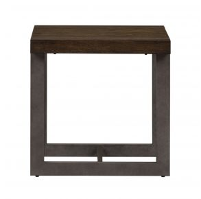 Liberty Furniture Industries, Inc. Sorrento Valley Square End Table - Medium Brown Front View