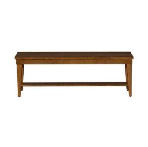 Liberty Furniture Industries, Inc. Hearthstone Ridge Bench - RTA - Dark Brown Front View