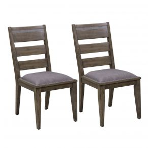 Liberty Furniture Industries, Inc. Sonoma Road Ladder Back Side Chair - RTA - Set of 2 - Light Brown Pair Front View