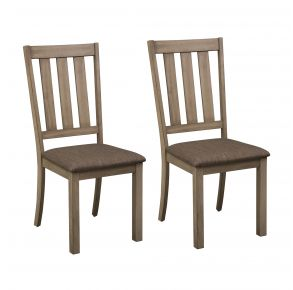 Liberty Furniture Industries, Inc. Sun Valley Slat Back Side Chair - RTA - Set of 2 - Light Brown Pair Front View