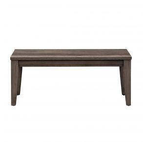 Liberty Furniture Industries, Inc. Tanners Creek Bench - RTA - Medium Gray Front View
