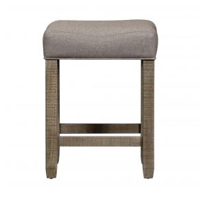 Liberty Furniture Industries, Inc. Parkland Falls Upholstered Console Stool - Light Brown Front View
