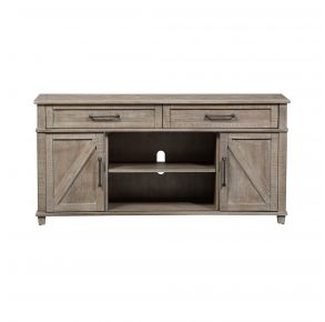 Liberty Furniture Industries, Inc. Parkland Falls Sofa Table - Light Brown Front with Drawers On the Outside View