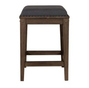 Liberty Furniture Industries, Inc. Sonoma Road Upholstered Console Stool - Light Brown Front View