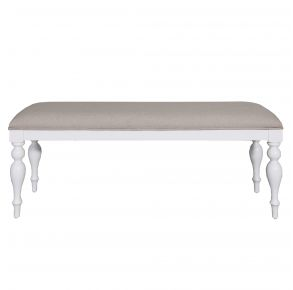Liberty Furniture Industries, Inc. Summer House Bench - RTA - White Front View
