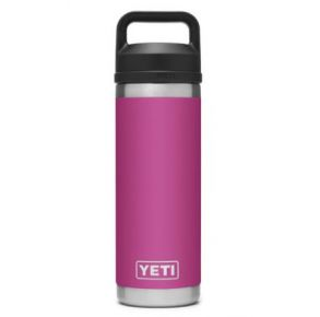YETI Rambler 18 oz. Bottle with Chug Cap - Prickly Pear Pink Front View