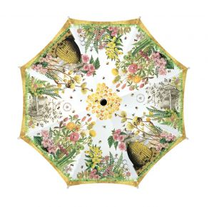 Michel Design Works Honey and Clover Travel Umbrella Top View