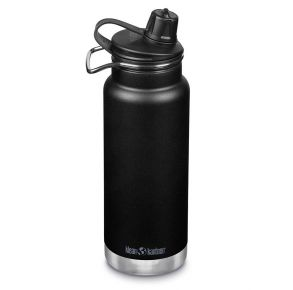 Klean Kanteen Insulated TKWide 32 oz with Chug Cap - Shale Black Front View