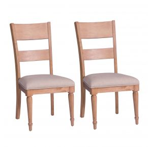 Liberty Furniture Industries, Inc. Harbor View Slat Back Side Chair - RTA - Set of 2 - Light Brown Pair Front View