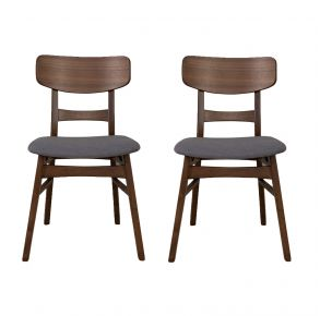 Liberty Furniture Industries, Inc. Space Savers Panel Back Side Chair - RTA - Set of 2 - Gray Pair Front View