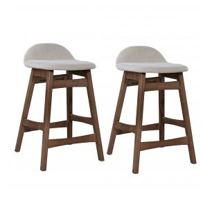 """Liberty Furniture Industries, Inc. Space Savers 24"""" Counter Chair - RTA - Set of 2 - Light Tan Pair Front View"""