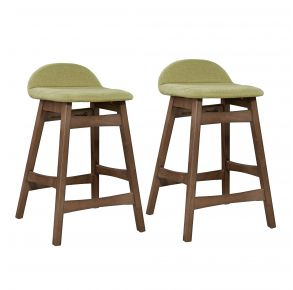 """Liberty Furniture Industries, Inc. Space Savers 30"""" Barstool - RTA - Set of 2 - Green Pair Front View"""