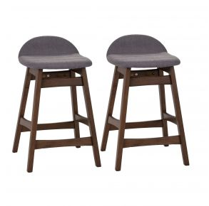"""Liberty Furniture Industries, Inc. Space Savers 30"""" Barstool - RTA - Set of 2 - Gray Front View"""