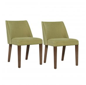 Liberty Furniture Industries, Inc. Space Savers Nido Chair - RTA - Set of 2 - Green Pair Front View