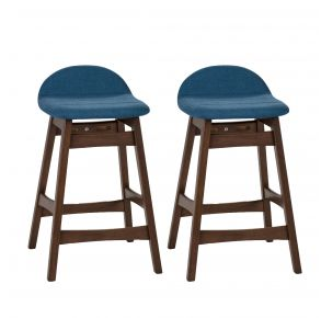 """Liberty Furniture Industries, Inc. Space Savers 30"""" Barstool - RTA - Set of 2 - Blue Pair Front View"""