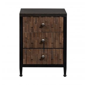 Liberty Furniture Industries, Inc. Harvest Home Chair Side Table - Black Front View