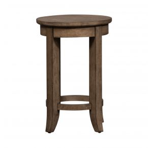 Liberty Furniture Industries, Inc. Harvest Home Console Stool - Light Brown Front View