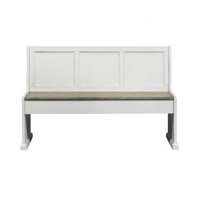 "Liberty Furniture Industries, Inc. Magnolia Manor 56"" Nook Bench - White Front View"