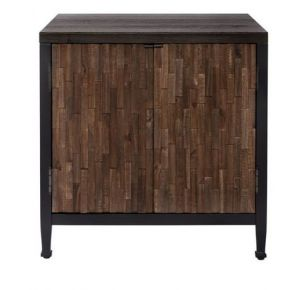 Liberty Furniture Industries, Inc. Harvest Home Door End Table - Black Front View