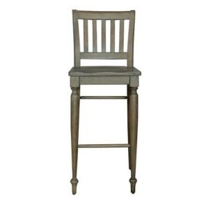 Liberty Furniture Industries, Inc. Harvest Home Slat Back Barstool - RTA - Set of 2 - Light Brown Front View