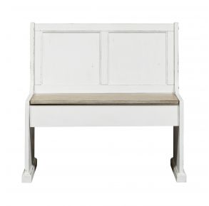 "Liberty Furniture Industries, Inc. Magnolia Manor 37"" Nook Bench - White Front View"
