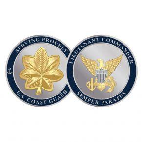 Coast Guard Challenge Coin - Lieutenant Commander Front View