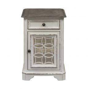 Liberty Furniture Industries, Inc. Magnolia Manor Chair Side Table - White Front View