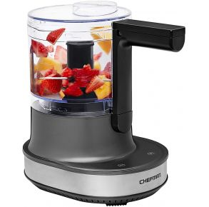 Chefman Electric 4-Cup Food Processor + Blender - Gray Left View