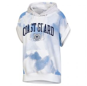 Coast Guard Champion Womens Watercolor Cloud Sleeveless Hoodie Front View